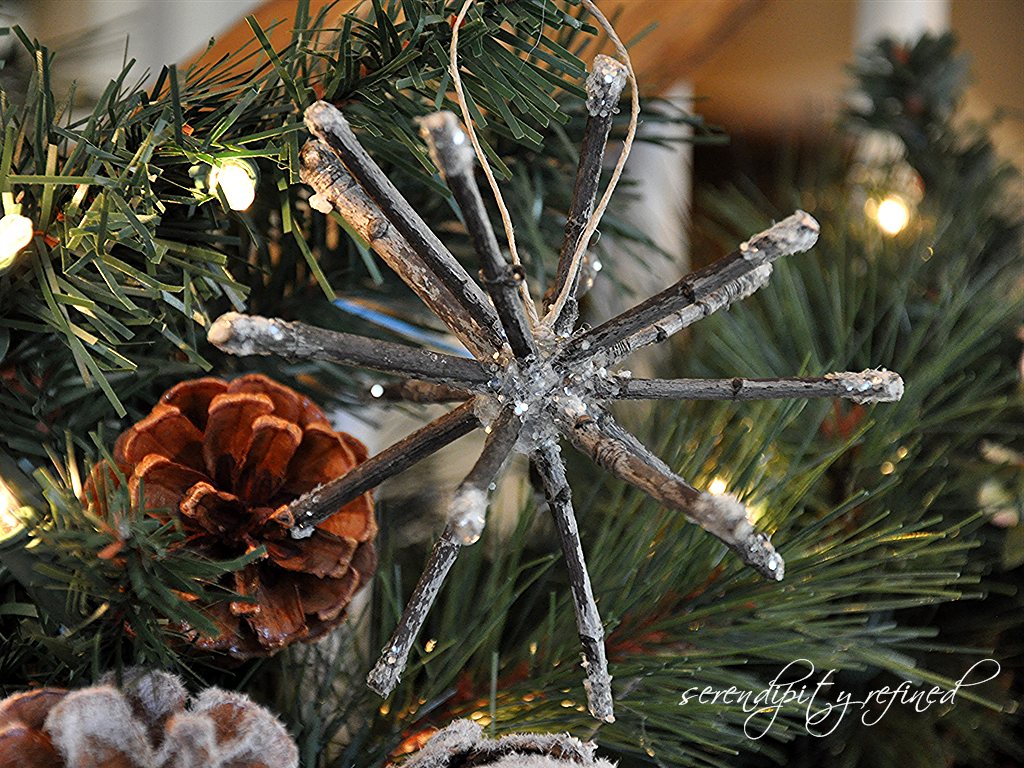 Serendipity refined blog twig ornaments free crafts for Decoration nature