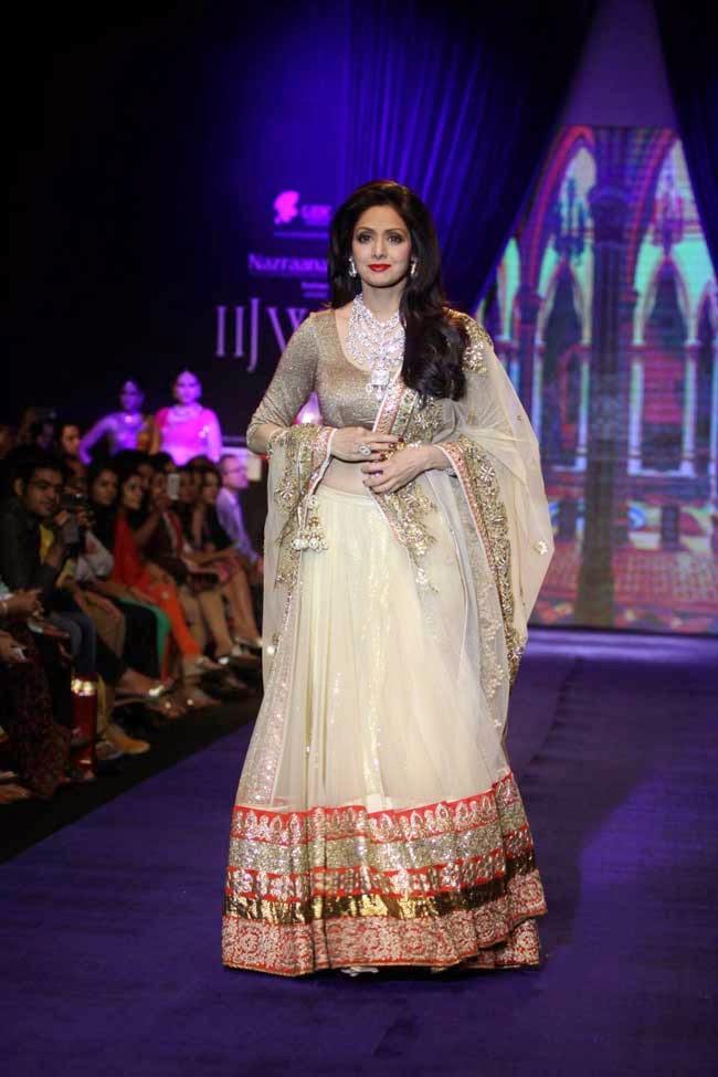 Sridevi Kapoor In Designer Lehenga at IIJW-2014