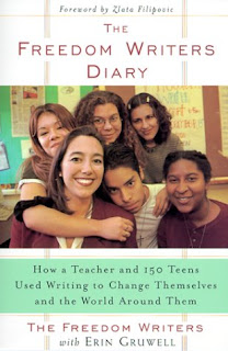An image of the book cover of Freedom Writers, in which McClung's reflections remind me of