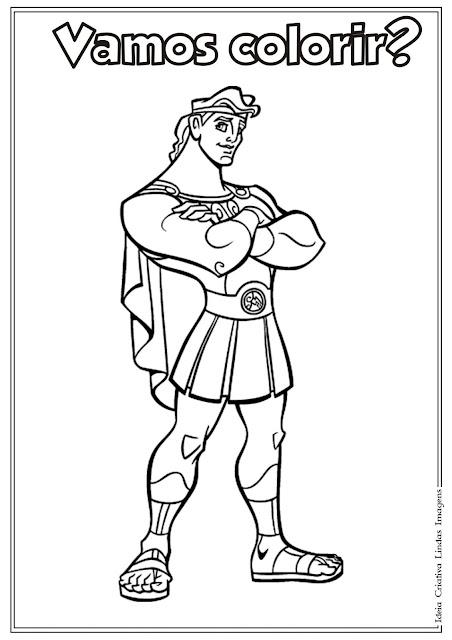 Desenho do Hercules para colorir