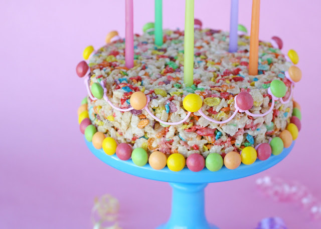 12 Fun Ways To Eat Fruity Pebbles; as a cake