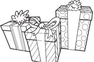 Coloring & Activity Pages: Presents Coloring Page
