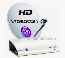 Videocon D2H 25% off + 10% Cashback