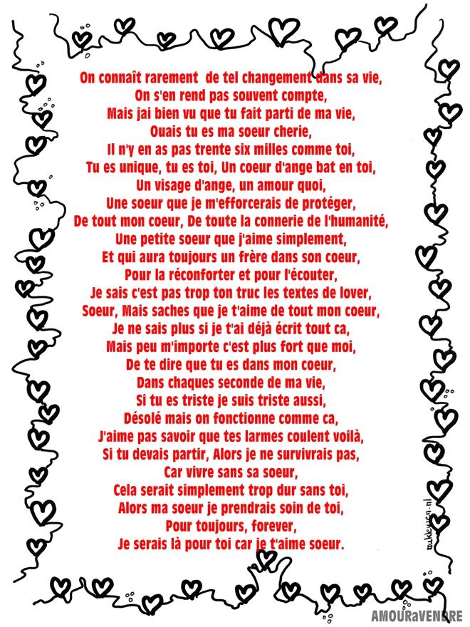 Fabuleux Lettres pour sa soeur - lettre d'amour pour ma soeur | les  UE93