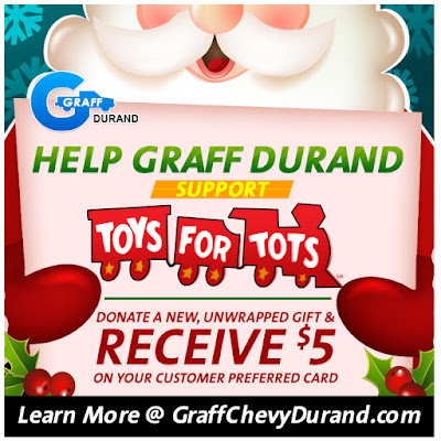 Help Graff Chevy Durand Support Toys for Tots Through December 24th!