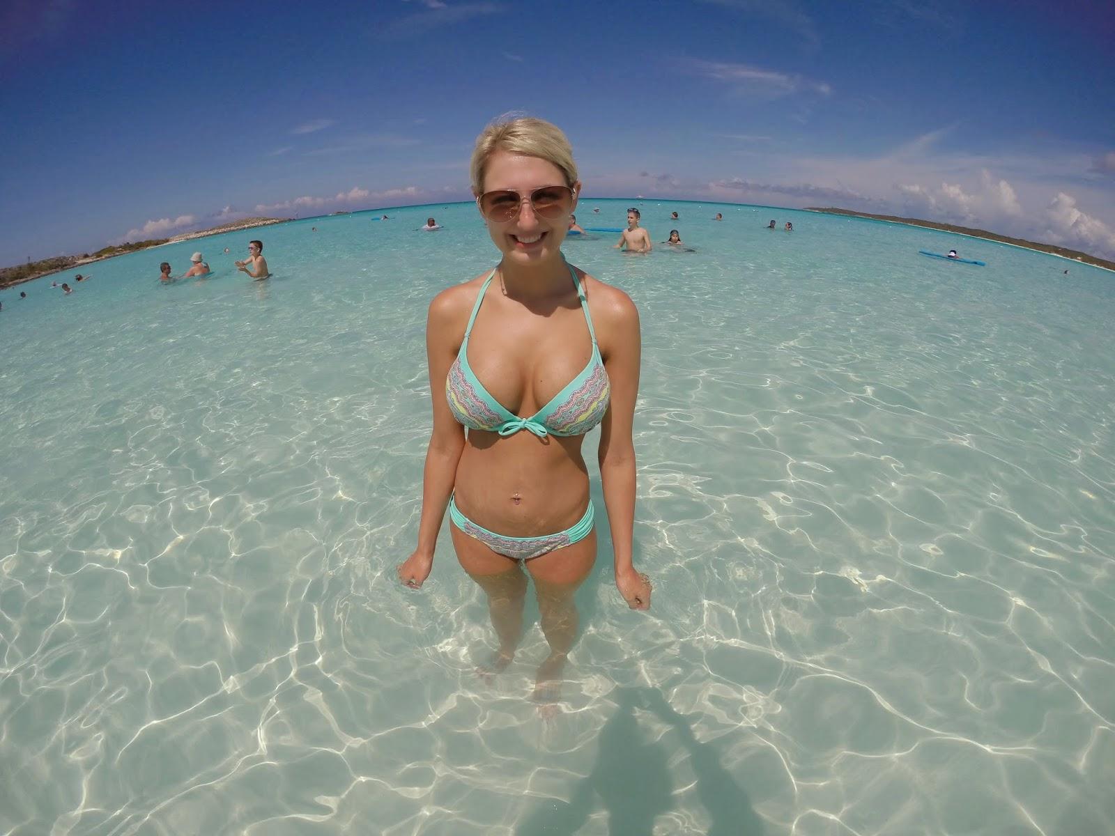 sexy girl in ocean