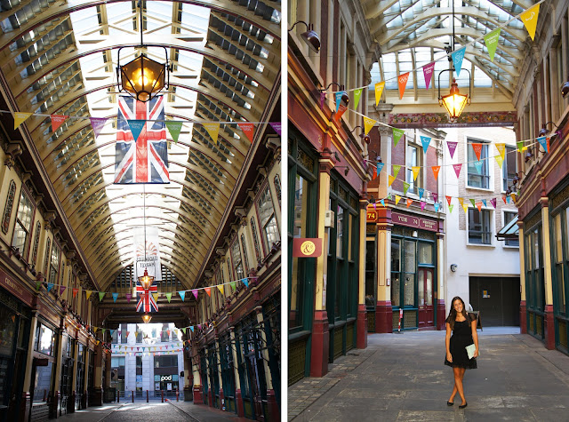 leadenhall market, diagon alley, london