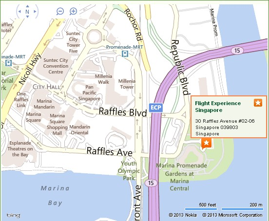 Flight Experience Singapore Location Map | Alexandra Meier