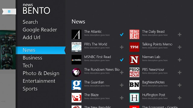 News Bento Windows 8 App