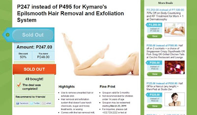 Kymaro Epilsmooth Hair Removal & Exfoliation System deal at Groupon Philippines