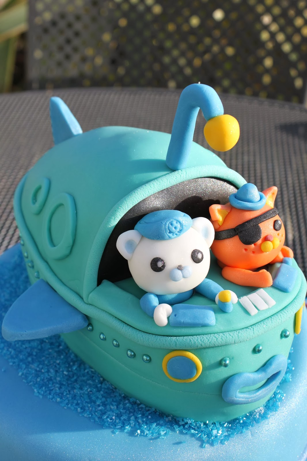 cake, octonauts, Gup A, Captain Barnacles, Kwazi, Peso, Tunip, under sea