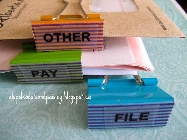 http://alspolkadotsandpaisley.blogspot.ca/2014/04/easy-organization-binder-clips.html