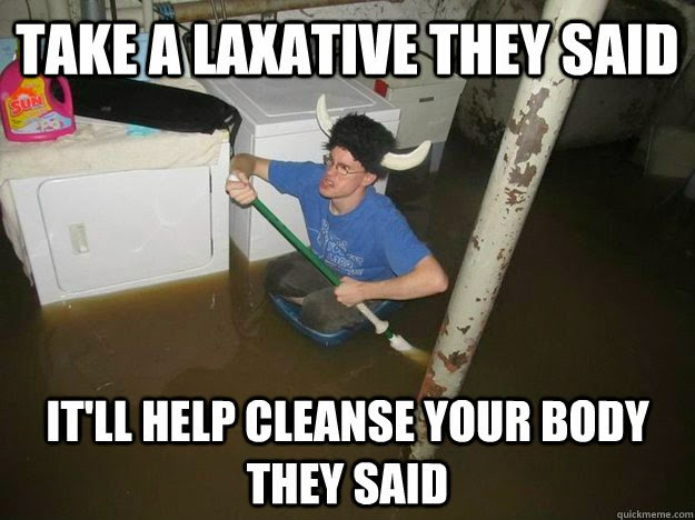 Funny image of a laxative dude