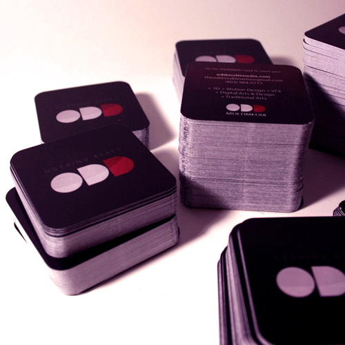 round-cornered business cards printed by GotPrint