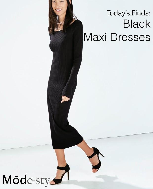 Modest black maxi dress with sleeves | Follow Mode-sty for stylish modest clothing #nolayering tznius orthodox jewish muslim hijab mormon lds pentecostal islamic evangelical christian