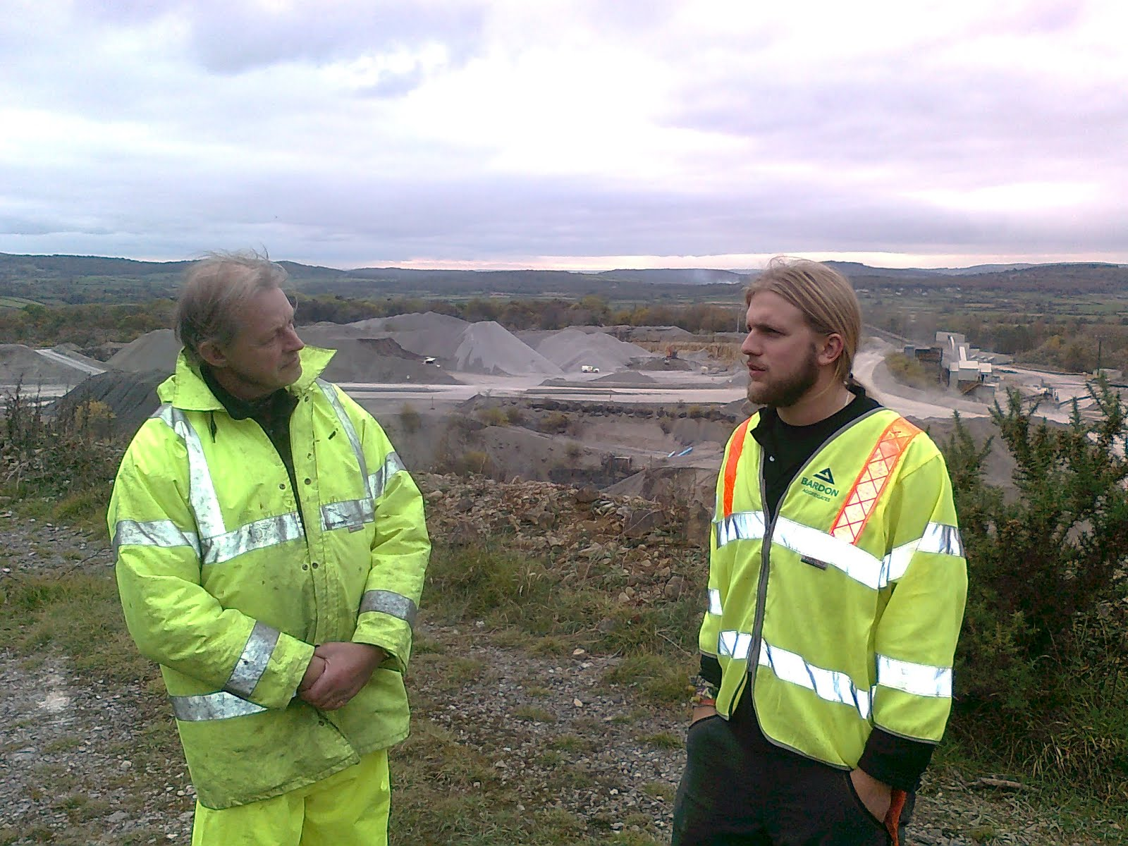 NT Trainee Ranger Ross And Natural England Reserves Manager Rob Overlook Holme Park Quarry