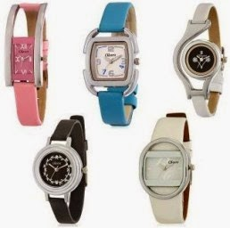 Shopclues: Buy Oleva Ladies Leather Watch Super Combo Set Of 5 At Rs.858 only