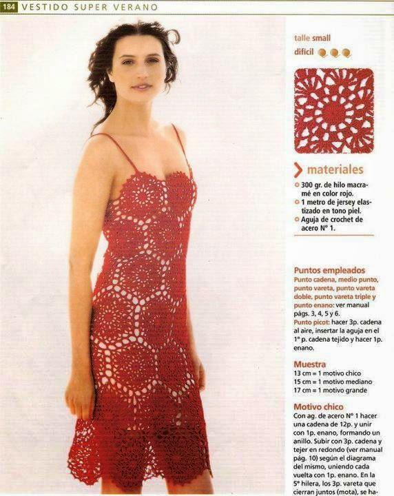 Vestido de verano para tejer al crochet - con patrones en español