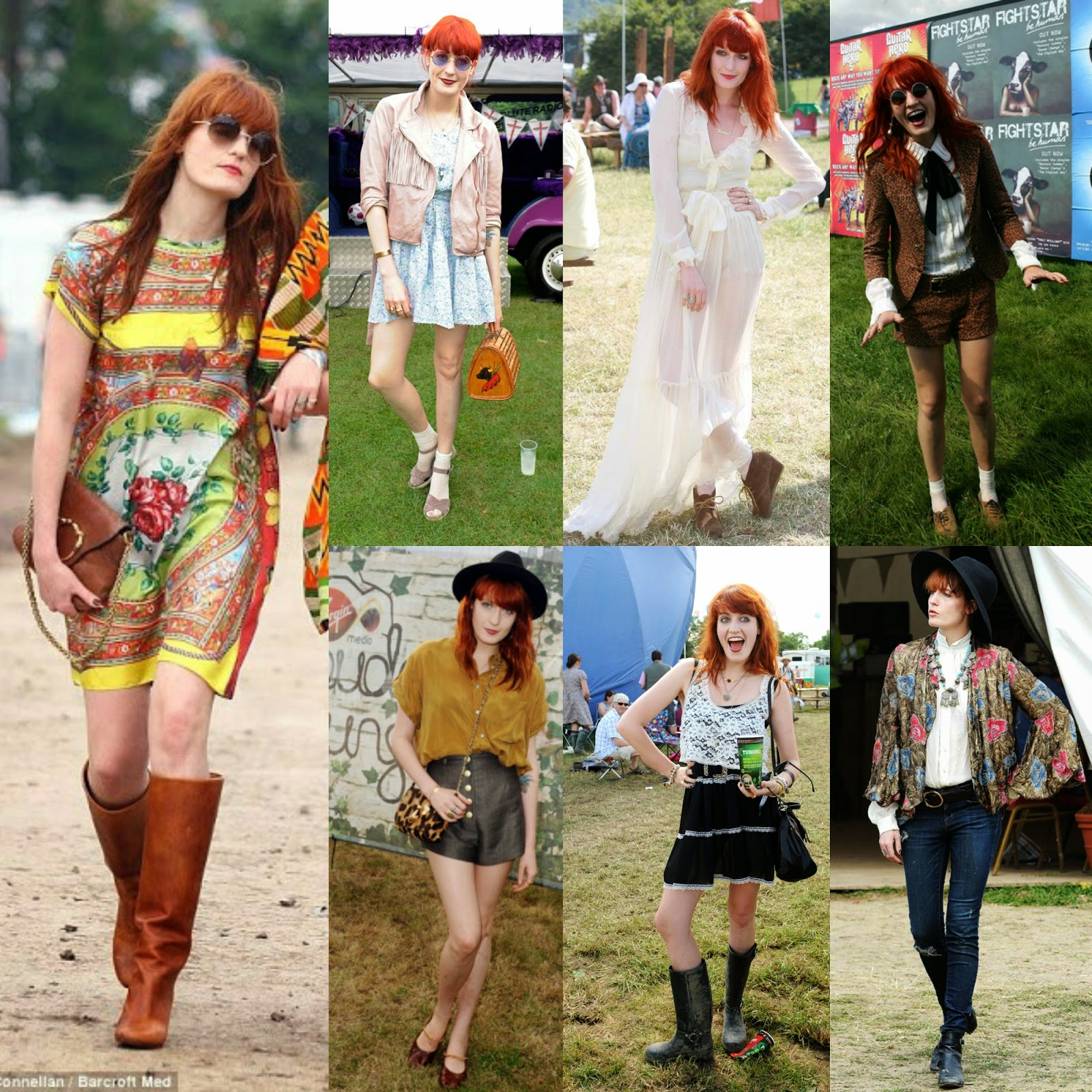 Florence Welch Music Festival Fashion