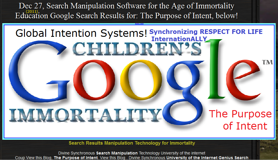 Global Intention Systems Hacking Google for   your Immortality Education