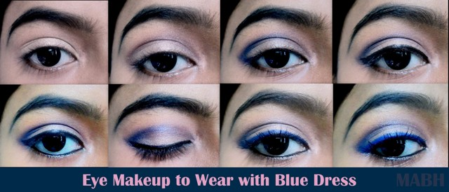 Eyeshadow color for royal blue dress