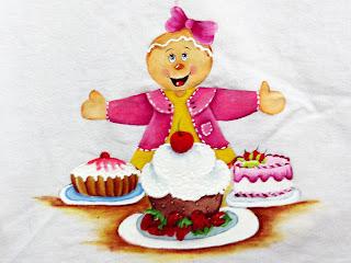 boneca ginger com bolo