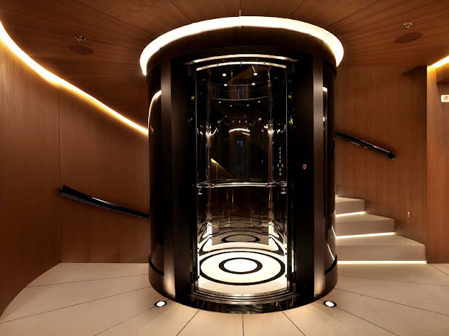 Passion for luxury magnificent numptia superyacht for Luxury elevator