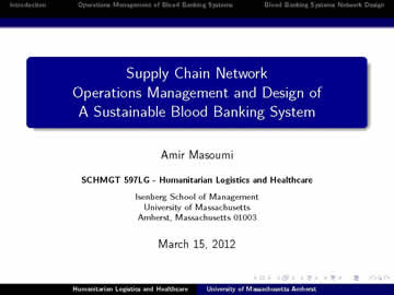 Certificate in Humanitarian Supply Chain Management (CHSCM)