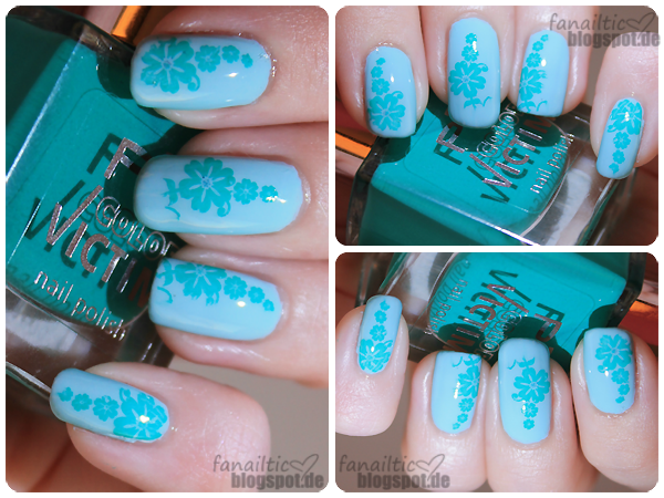 claire's mint green + p2 artful stamping
