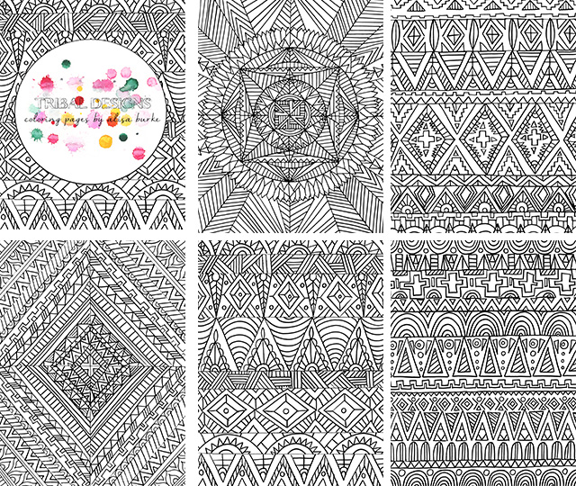 Alisaburke coloring page sale for Tribal coloring pages