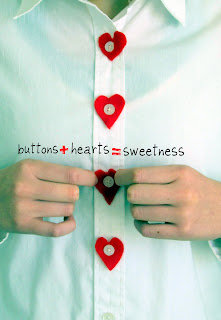 Make your own heart buttons
