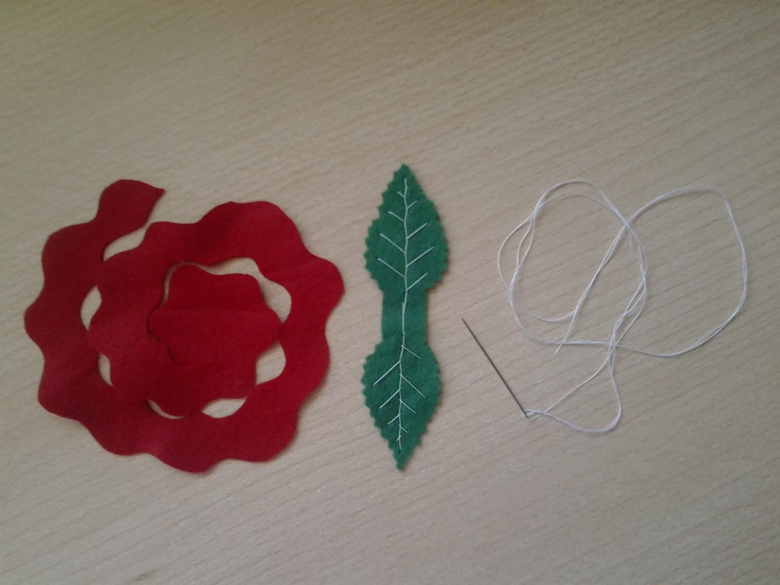 Todo Manualidades Rosas De Fieltro Para Sant Jordi