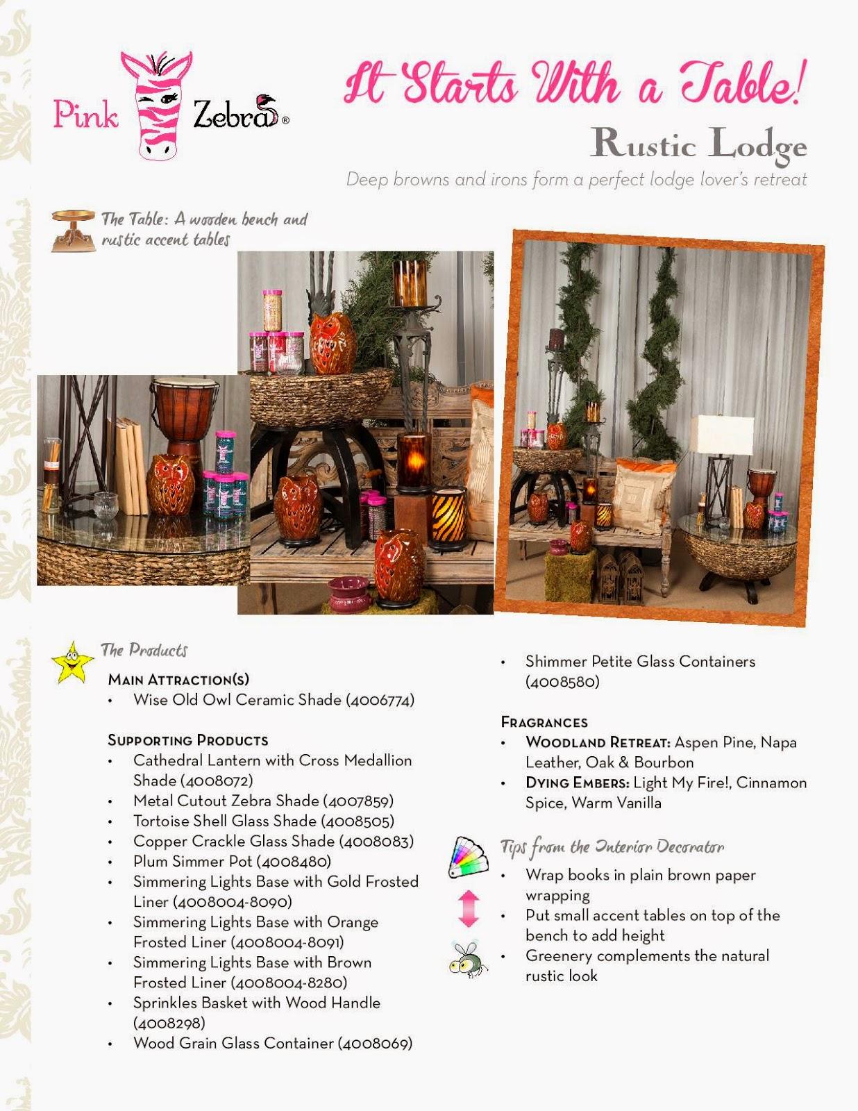 Pink Zebra Rustic Lodge Image