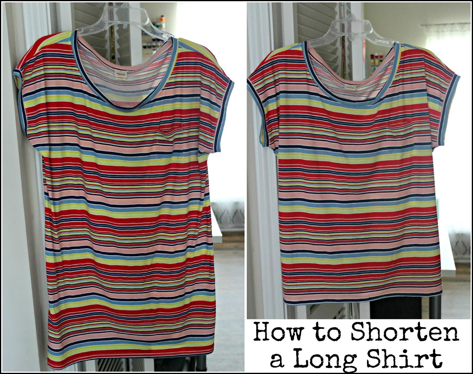 how to shorten a shirt taylormade