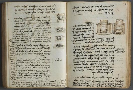 Immagine di appunti di Leonardo Da Vinci. vanillasnotes