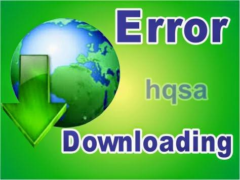 error downloading