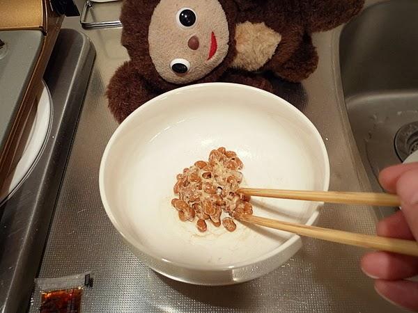 納豆と梅干しの玉子焼きの作り方(1)
