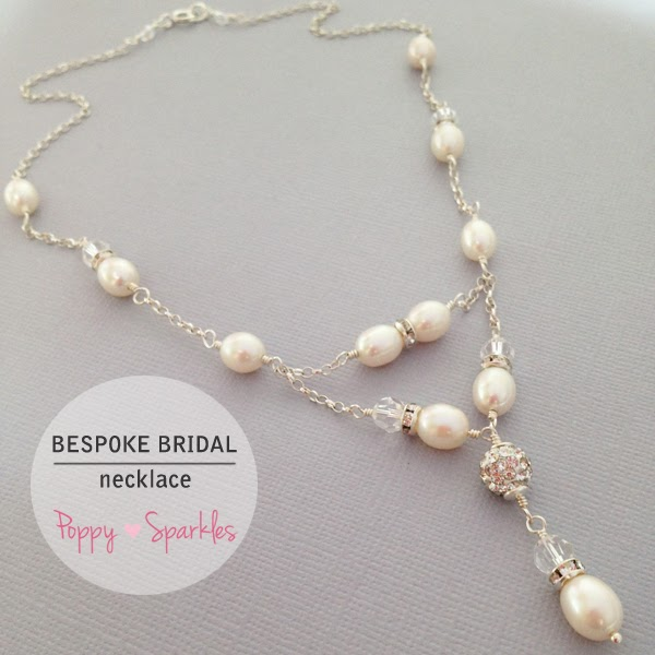 Bespoke Bridal Necklace by Poppy Sparkles #wedding #bride #jewellery #pearls