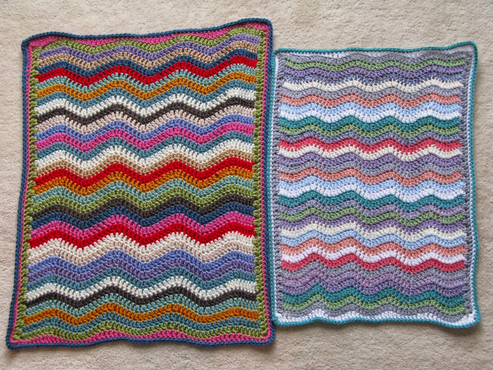 Meo my crochet sweet summer ripple doll blanket its mostly due to the difference in yarn weight and hook size my cosmic rays ripple blanket was made using worsted weight yarn and a 5 mm hook bankloansurffo Images