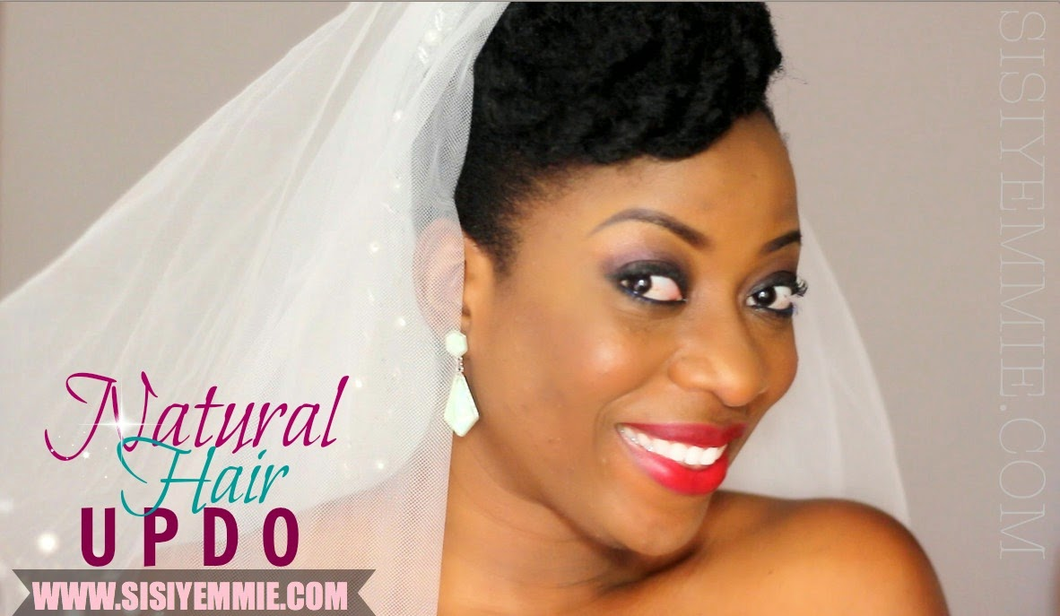 Natural Hair Updo Bridal Inspired Sisiyemmie Nigerian Food