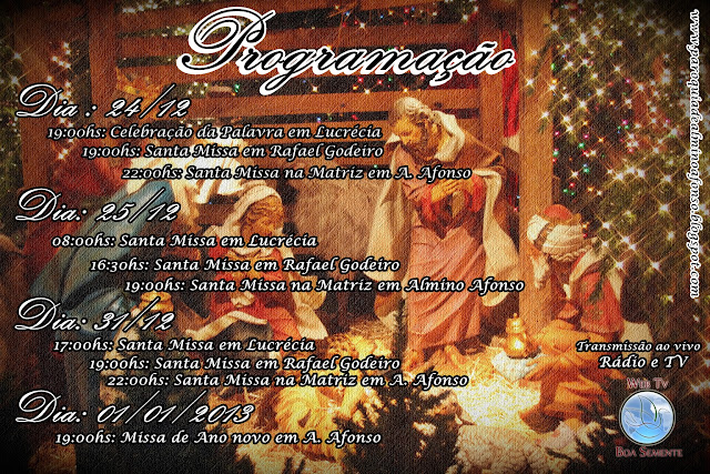 Missas de fim de ano na Paróquia de Almino Afonso