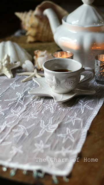 Starfish Lace Table Runner: The Charm of Home