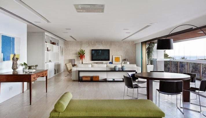 decoracao de interiores estilo contemporâneoAo fundo Poltrona Donna