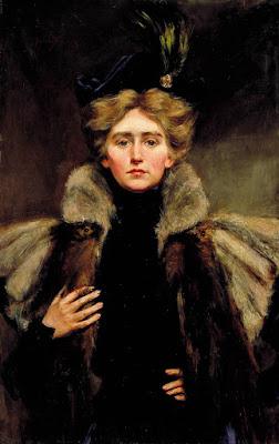 Alice Pike Barney Natalie Barney in a Fur Cape