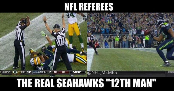 "#nfl #nflreferess #seahawks #12thman.- nfl referess the real seahawks ""12th man"""