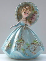 SOLD SOLD Vintage Josef Originals Figurine Parasol Lady Very Rare $139.99