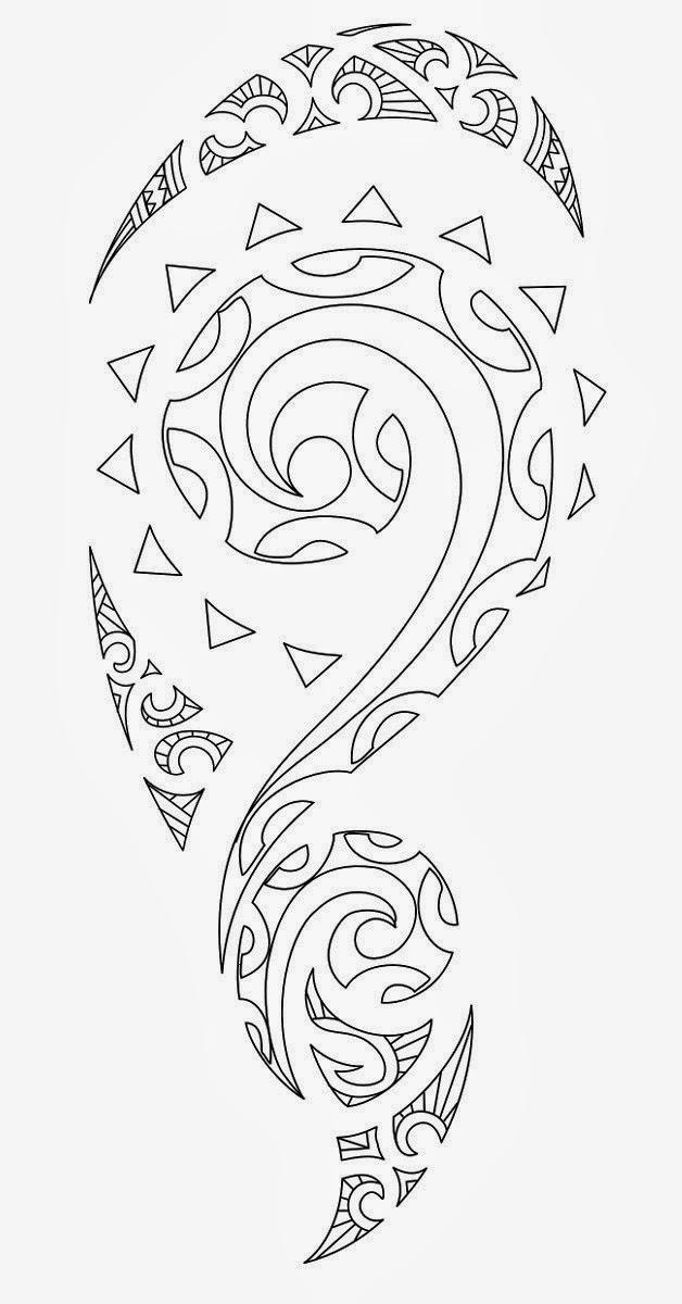Tribal Half Sleeve Tattoo Stencil