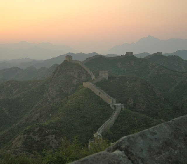 sunset on the Great Wall