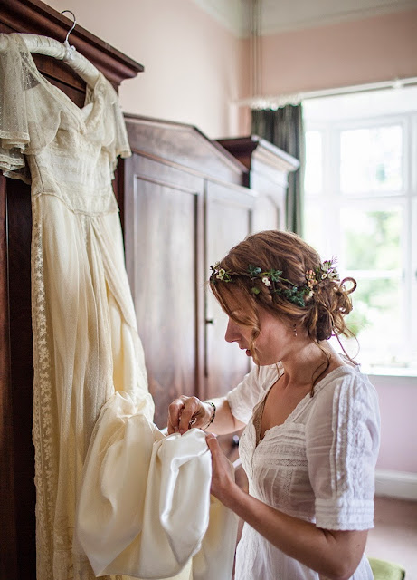 Handmade antique wedding dress
