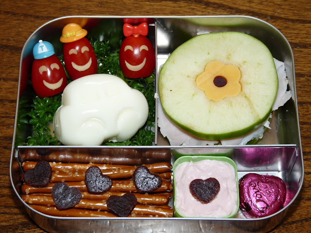 car apple sandwich bento lunch